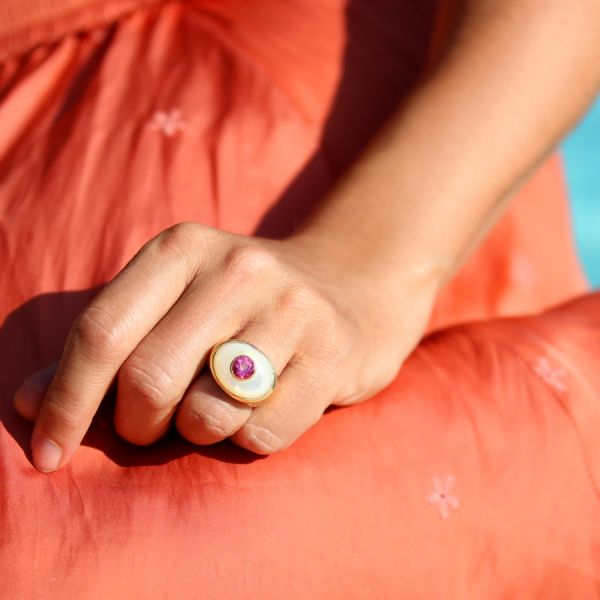 Mother of pearl Suzanne ring