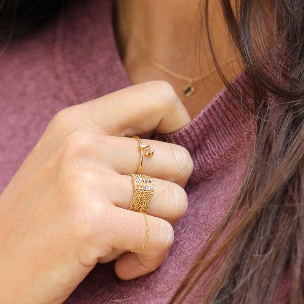 Barrette chain ring