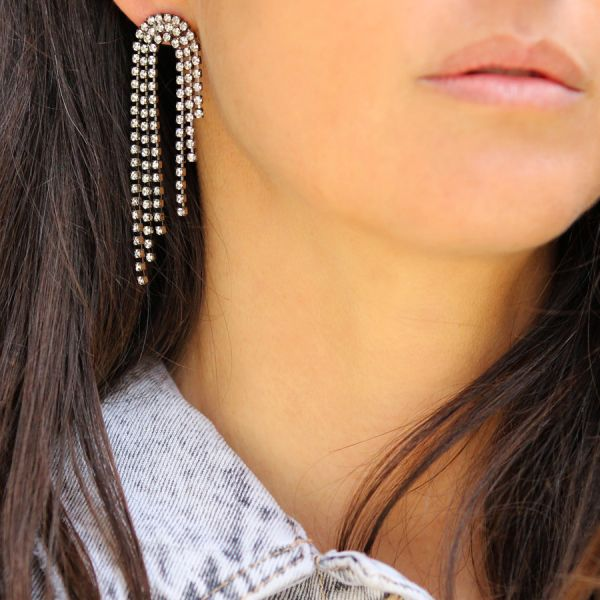 Waterfall crystals earring