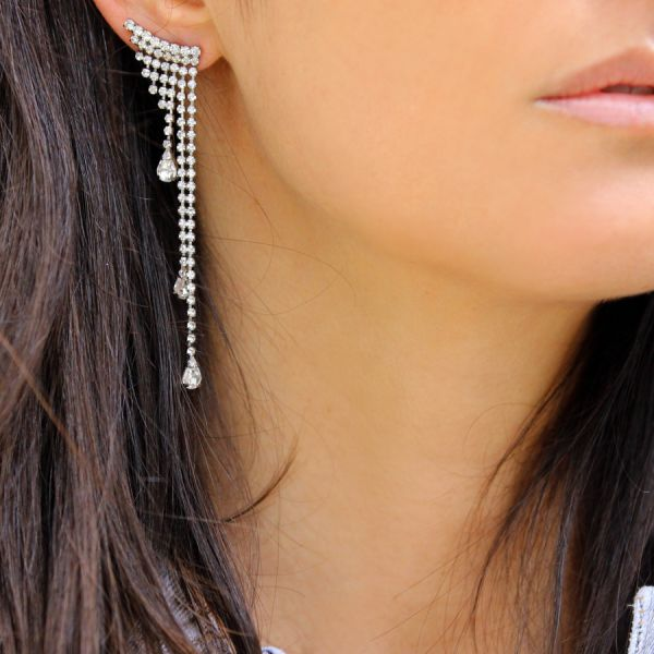 Crystals waterfall earring