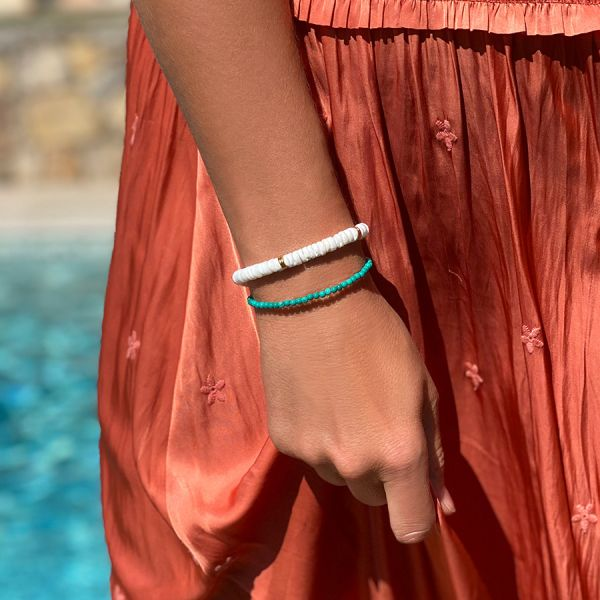 Gold and Nacre Bracelet