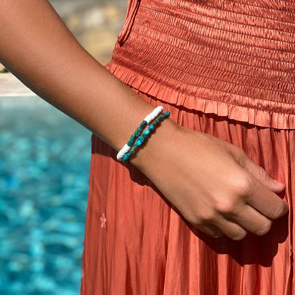 White and Turquoise Bracelet
