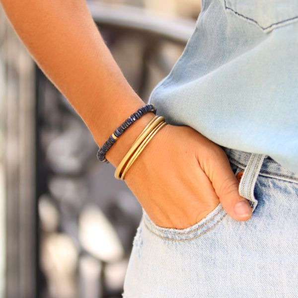 Gold and Sodalite Bracelet (Summer Grigri)