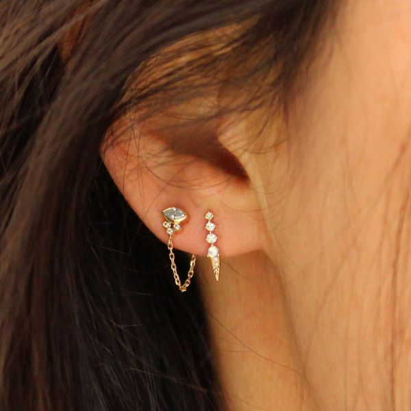 Diamonds chain earring