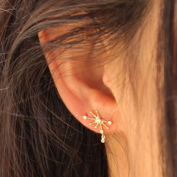 Puce d'oreille constellation diamants