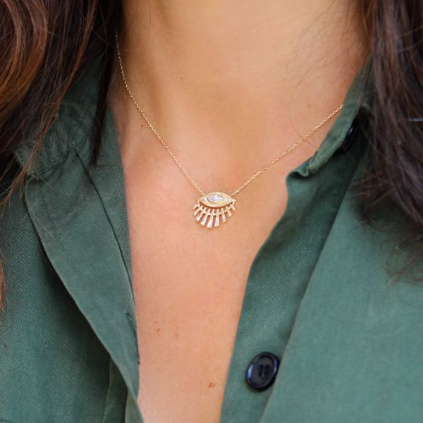 Sun & Eye Diamonds necklace
