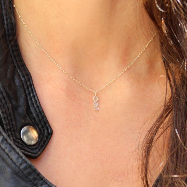 Collier 3 diamants