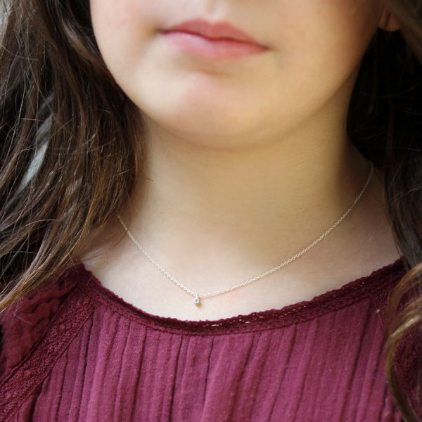 Collier enfant diamant