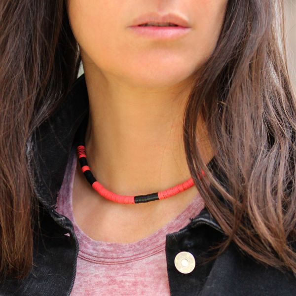 Black and pink necklace