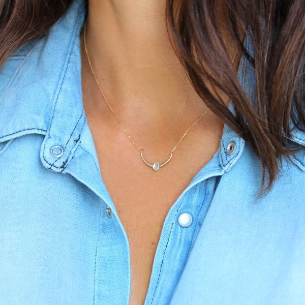 Gold and polki diamond Indie necklace