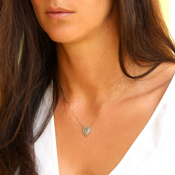 Gold and polki diamond necklace