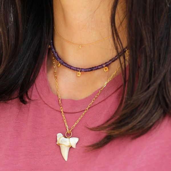 Amethyst Kira Kira necklace