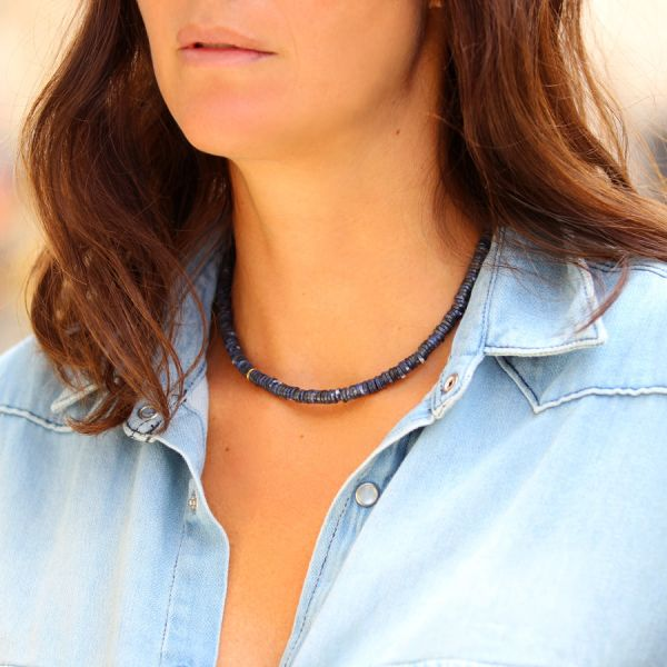 Gold and Sodalite necklace