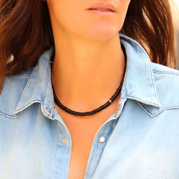 Gold and Onyx necklace