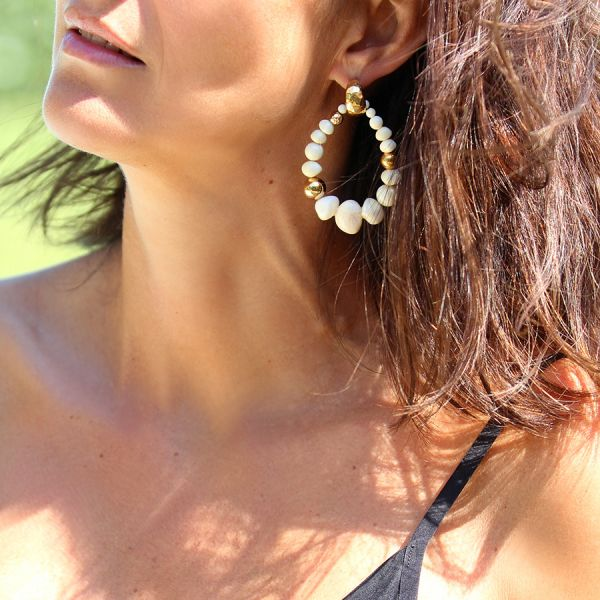 Ivory Biba earrings