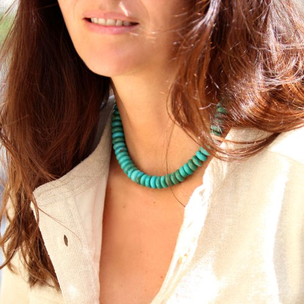 Collier grosses Turquoises