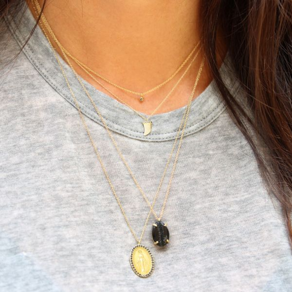 Collier Coquillage Onyx
