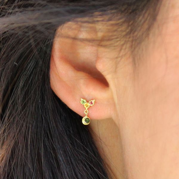 Multicolour stud earring