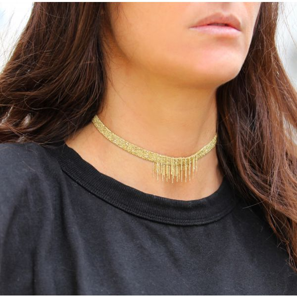 Luxury gri-gri choker necklace